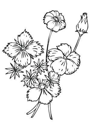 Ausmalbilder Blumenstrauss An Ostern Christentum Malvorlagen