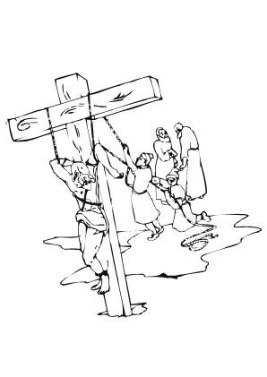 Ausmalbilder Kreuzigung   Christentum Malvorlagen