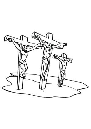 Ausmalbilder Die Kreuzigung - Jesus Malvorlagen