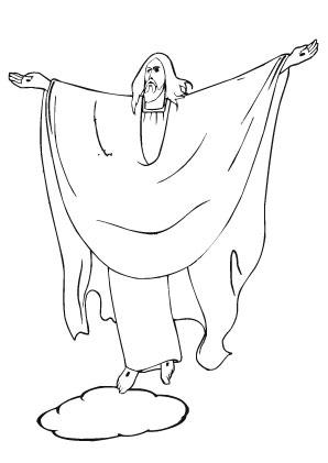 ausmalbild jesus 5 zum ausdrucken