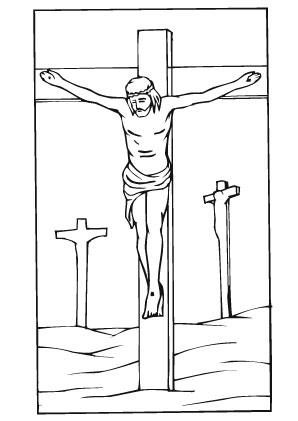 Ausmalbilder Jesus auf dem Berg - Jesus Malvorlagen