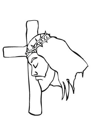 ausmalbild jesus mit dornenkrone zum ausdrucken