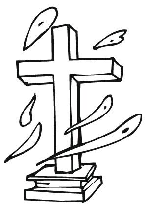 Ausmalbilder Kreuz - Jesus Malvorlagen