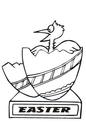 Ausmalbilder Küken im Osterei - Ostereier Malvorlagen