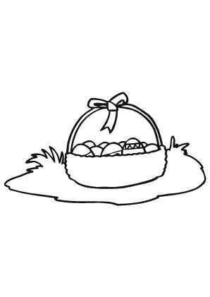 Ausmalbilder Osterkorb In Der Wiese Ostereier Malvorlagen