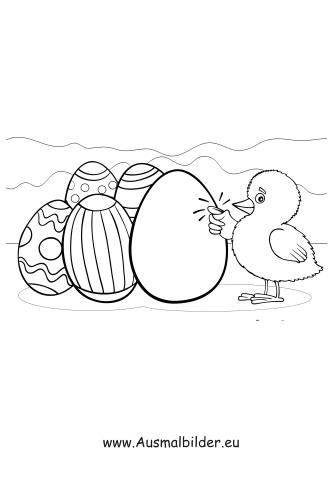 Ausmalbilder Ente Mit Ostereiern Ostern Malvorlagen