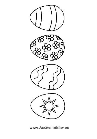 Ausmalbilder Ostereier   Ostern Malvorlagen